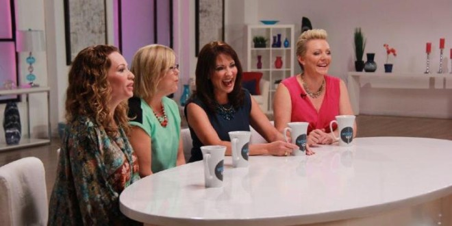 on the set of Wake Up! the hosts Zhena Muzyka, Betsy Chasse, Cindy Ertman and Natalie Ledwell.